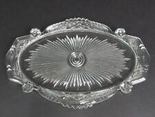 "Vintage Art Deco Glass Dresser Vanity Perfume Tray 14 X 10"""