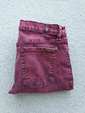 7 For All Mankind Men's Jeans Size 32 Skinny Red Wash Maroon Made In USA