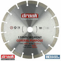 "230mm 9"" General Purpose Diamond Blade Disc Stone, Concrete, Brick DRAAK"
