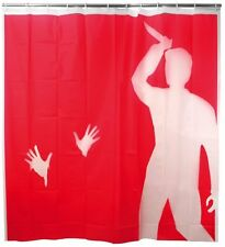 Kikkerland PSYCHO EVA Plastic SHOWER CURTAIN SH08 red/clear