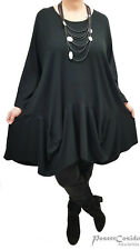 LAGENLOOK Ballon Tunika Long-Shirt Kleid 44 46 48 50 52 54 56 58 L-XL-XXL-XXXL