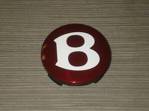 Bentley Continental Felgendeckel 4W0601159B Nabenkappe Deckel Red Wheel Badge OE