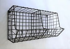 Wire Basket Mesh Storage Rack Wall Mounted Kitchen Industrial Style Metal Holder