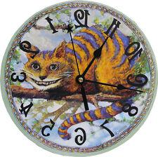 Cheshire Cat clock,Alice in Wonderland,Novelty,backwards, White Rabbit Classic