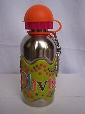 OLIVIA Funky Named Metal Silicone Drinks Bottle Flask Container Thermos GREEN