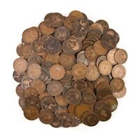 LOT OF 10 GREAT BRITAIN UNITED KINGDOM 1 PENNY COINS OLD COLLECTIBLE 1902-1970