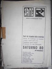 Same SATURNO 80 Synchro 1979 : catalogue de pièces feuilles
