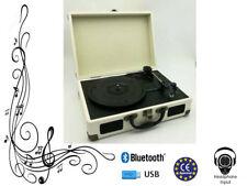 Crème porte-documents tourne disque vinyle - MP3 USB Platine Bluetooth 3W