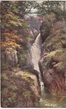 Postcard - AIREY FORCE ULLSWATER,  - A HAPPY NEW YEAR.        (Ref A13)