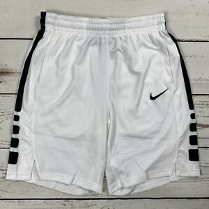 Nike Elite Dri-Fit Men's Size Medium Basketball Shorts White/Black