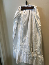 Pretty Victorian Drawstring Cotton Slip With Lots Of Tucks And Eyelet Trim