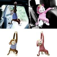 Tissue Box Holder Cartoon Monkey Napkin Dispenser Car Napkin Hanging Paper W6O7