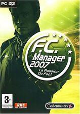 F.C. Manager 2007 , jeu PC DVD-rom foot FCM 2007 + codes, cheats