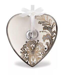 Hallmark Wedding Heart and Rings Keepsake Christmas Ornament