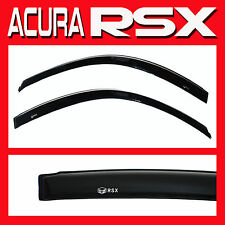 2002-2006 Acura RSX Side Door Window Visors with LOGO DC5 - Sun Deflectors Shade