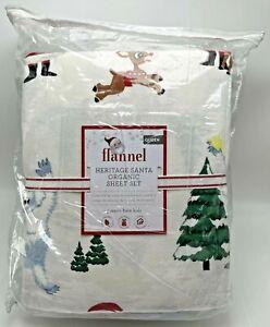 Rudolph Bumble Flannel Queen Sheet Set Christmas Pottery Barn Kids Santa Claus