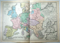 Antique Map of Europe in the Year 1715 by Drioux & Leroy Paris 1884