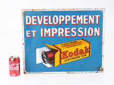 KODAK SIGN FOR PROCESSING, PORCELAIN, IN FRENCH/cks/214561