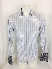 Black Brown Fancy French Cuff Dress Shirt. Men's XL. Perfect.