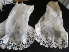 Antique French Point de Gaze Lace Cuffs, Exquisite