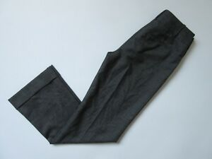 NWT Ann Taylor Wool Blend Trouser in Brown Black Beige Tricolor Pants 0 x 31 ½