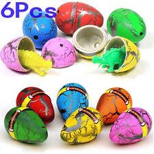6Pcs/Lot Magic Cute Fake Hatching Growing Dinosaur Dino Eggs Add Water Kids Toy