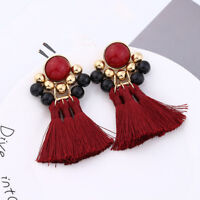 Bohemian Multi-layer Exaggerated Tassel Alloy retro Wind Woven Earrings LD