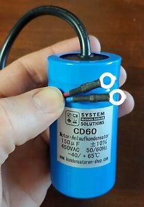 Condensateur de Démarrage / Motor Start Kondensator CD60 150uF / Μf 450 Acc