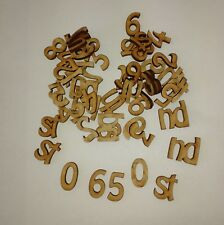 Wooden (3 Cm) Numbers 0-9 X 2 X Plus St Nd Rd Th X6 Laser Cut 3 Mm MDF