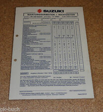 Inspektionsblatt Suzuki RV 125 VanVan Typ WVBT Baujahr 2003