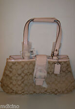NWT COACH SOHO SIGNATURE TOTE Lt Khaki 50% Below $348 Retail F18750 SOLD OUT!