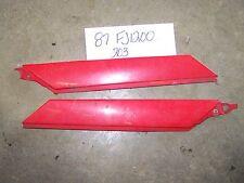 yamaha fj1200 fj 1200 plastic side cover covers panel red 86 87 84 85 fj1100