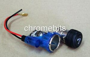 Blue Universal Cigarette Lighter socket Car Auto 12V