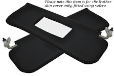 BLACK STITCHING FITS MG MGB 2X SUN VISORS LEATHER COVERS ONLY