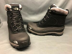 North Face Men's Chillkat III Insulated Hiking Boots Black Grey Size 12 NEW!