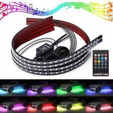 4 x RGB Led Under Car Tube Strip Light Underglow body  Music Remote Control