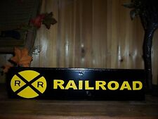RAILROAD PAINTED SIGN TRAIN TRACKS COAL MAN CAVE GAME ROOM BAR PUB COUNTRY SOUTH