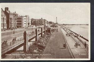 Lancashire Postcard - Three Promenades, North Shore, Blackpool   RS20479