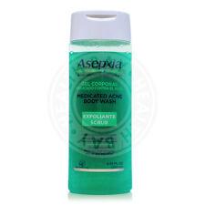 Asepxia Medicated Acne Scrub Body Wash Gel Exfoliante Pimples Blackheads Barros