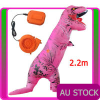 ADULT T-REX Dinosaur INFLATABLE Costume TRex T Rex Jurassic World Pink Blowup