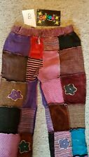 BNWT GRINGO JOGGER SLOUCH KNITTED PATCHWORK PANTS TROUSERS HIPPY FESTIVAL BOHO