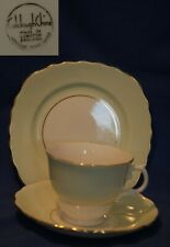 Vintage Colclough green and gilt bone china trio, cup, saucer and plate
