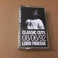 RARE! Lord Finesse 8/6/92 Tape Kingz NYC Hip Hop 90s Cassette Tape Rap Mixtape
