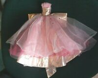 Dress MATTEL BARBIE DOLL Holidays Model  MUSE PINK STUDDED TULLE GOWN