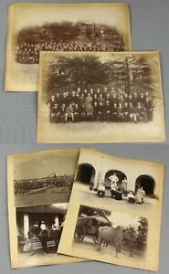 c1887   INDIA   6 albumen photographs inc. two anglo-indian school group photos