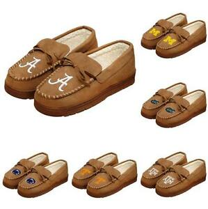 NCAA Mens College Team Logo Moccasin Slippers - Pick Team