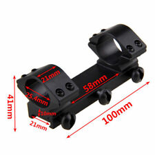 "Low Profile 1"" 25.4mm Dual Rings Rifle Sight Scope Mount for 20mm Dovetail Rail"