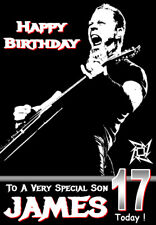 METALLICA Personalised Birthday Card! ANY NAME/AGE/RELATION, METAL FANS !!