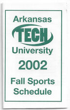 2002 Arkansas Tech University College Football Volleyball Schedule !!