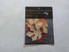 New listing Stan Rising Co. 4 Autumn Leaves Metallic Look Iron-On Appliques New In Package